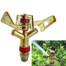 Hot New 1/2 Inch Dual Connector Zinc Alloy 360 Degree Rotate Rocker Arm Water Sprinkler Spray Nozzle Garden Irrigation Sprinkler