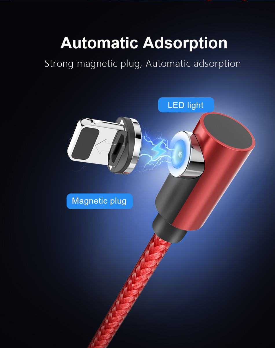 !ACCEZZ 2M Magnetic Cable Fast Charging For iPhone X XS MAX XR 8 7 Micro USB Type C Magnet Charge For Samsung Android Phone Cord (3)