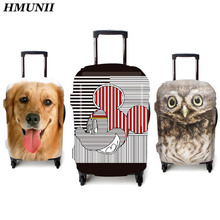 2017Brand Travel Luggage Protective Covers 3D Animal Pet Pug Dog Cover For 18-30 Inch Suitcase Elastic Luggage Cover Suitcases C
