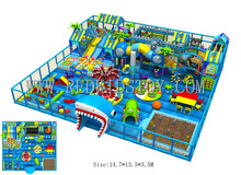 Exported to Turkey Big Indoor Playground Equipment Kids Plaza De Juegos 151127a