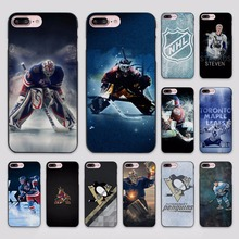 Ice hockey team design hard black Case Cover for Apple iPhone 7 6 6s Plus SE 5 5s 5c 4 4s