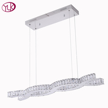 Youlaike Modern Crystal Chandelier For Dining Room Flush Mount Kitchen Island Hang LED Cristal Lamps Luxury Cristal Lamparas(China)