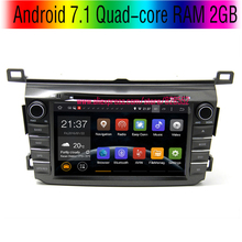 Android 7.1 Quad-core RAM 2GB Car DVD Player For Toyota RAV4 2013 2014 With 3G/wifi USB GPS BT