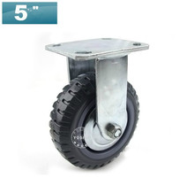 "Without Brake 5"" Extra-Heavy Polyurethane Cabinet Caster Wheel Load Capacity280KG Per caster(China)"