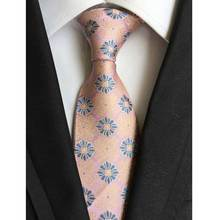 Factory Vintage 8CM Classic Mens 100% Silk Ties Floral Red peach Yellow Blue Purple Accessories Jacquard Woven necktie Neck Tie