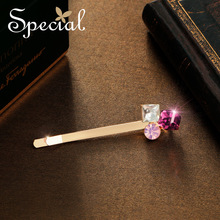 Special Fashion Dreamy Purple Hair Pins Clips Crystal Romantic Barrettes Hair Accessories Hair Jewelry Gifts for Women S1773H(China)