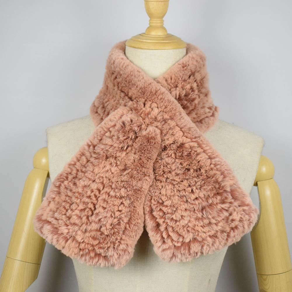 rex rabbit fur scarf short 13