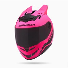 2017 Motorcycle helmet full face helmet off road professional rally racing helmets casque moto casco Pink helmet(China)