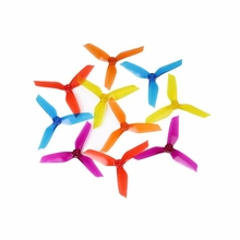 High Quality 1 Pair DYS 5042 5 Inch 3 Blade Propeller Triblade Bullnose Prop Red Orange Yellow Green Blue Purple(China)