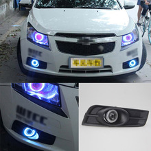 Ownsun Superb 55W Halogen Bulbs COB Fog Lights Source Angel Eye Bumper Cover For Chevrolet Cruze(China)
