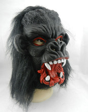 ANGRLY Halloween Props Costumes Dress Carnival Parties Full Face Cosplay Black Gorilla Mask Horror Masquerade Adult Ghost Mask