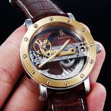 5ATM Waterproof Automatic Dive Watches Men Luxury Fashion Brand IK Mechanical Watch Transparent Unique Design Men's Watches(China)