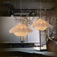 Originality The Bird's Nest Modelling Pendant Lamp Hand Woven Rattan Pendant Lights Restaurant Bed Room Balcony Hanging Light