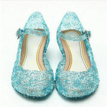Baby Shoes Girls Sandals Anna Elsa Kids Baby Shoes Elsa Princess and Cosplay Shoes Party and Comfortable Free shipping(China)