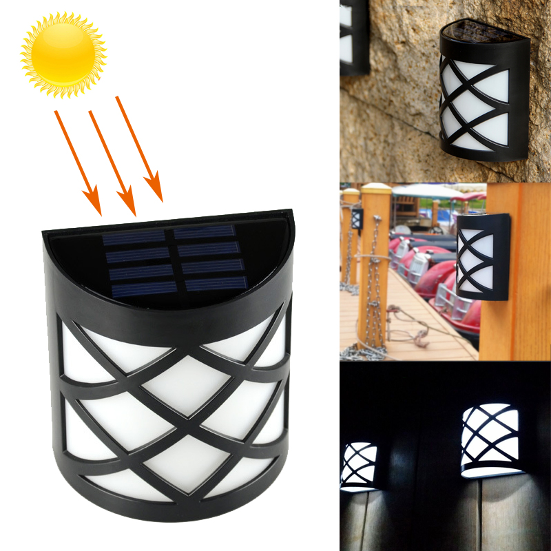 LED Solar Light 6 LEDs Waterproof IP55 Sensor Light Outdoor Garden Patio Fence Wall Lamp Path Corridor LED Solar lamp