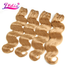 "Lydia 4pcs/lot Body Wave Hair Extension Yaki Body 16""-26"" Pure Color Blond Synthetic Hair Weaving For Women Hair Bundles(China)"