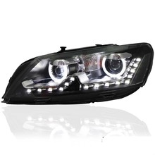 New Robot Angel Eye LED DRL Projector Lens Headlight for VW Passat 2011-2013