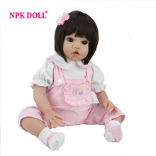 20 inch Lee Middleton Cuddle Baby Face Girl Silicone Reborn Baby Dolls Bonecas Brinquedo For Girls(China)