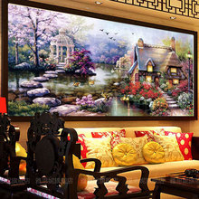 90x50diamond landscape painting diy diamond pattern Kits for embroidery with beads picture of rhinestones hand embroidery stones