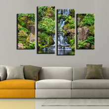 4 Panel The Japanese Garden Natural Landscape Oil Painting Art Wall Painting Picture For Home Decor Free Shipping No Frame