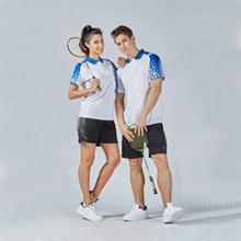Free Ship 2017 New Sport Kits Quick Dry Badminton sets Couple Model Women Men Breathable Badminton clothes Tennis wear jerseys(China)