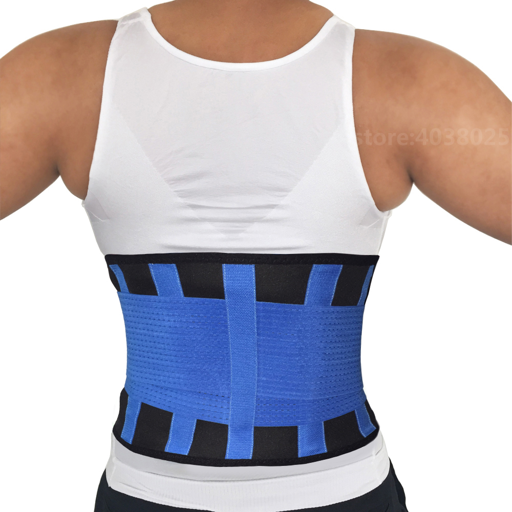Hot-Sale-Exercise-Adjustable-Back-Support-Belt-Braces-Supports-Lumbar-Support-Brace-Black-Breathable-Waist-Trimmer