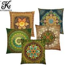 Hot Sale Bible Mandala Middle East Armenia India Oriental Bliss Sun Moon Ararat Flower Arabesque Cushion Cover Sofa Pillow Case(China)