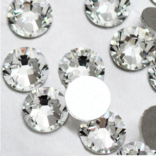 Super deal Shiny 1440PCS SS3 to ss10 non hotfix rhinestone Clear Crystal color 3D Nail Art Decorations Flatback Rhinestones