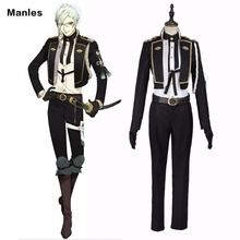 Touken Ranbu Online Hizamaru Cosplay Costume Anime Uniform Black Outfit Adult Men Suit Halloween Carnival Costume Tailored Made(China)