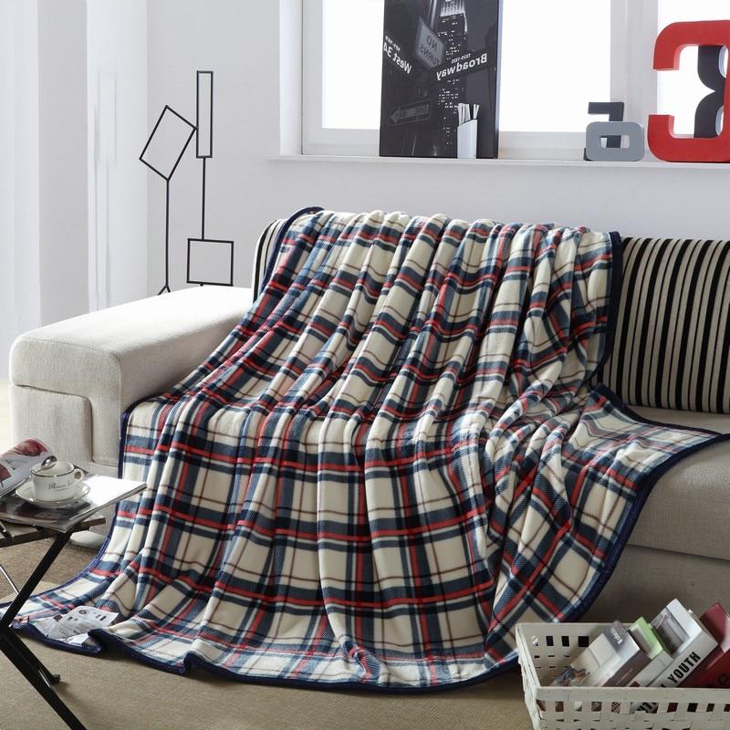 Blanket Ferret cashmere blanket warm blankets brand fleece plaid super warm soft throw on Sofa/Bed/Plane Travel Plaids patchwork<br><br>Aliexpress