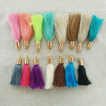 earrings findings jewelry making tassels charms fiber Tassel caps crimps ends rayon cotton fringe trim key chains pendants craft