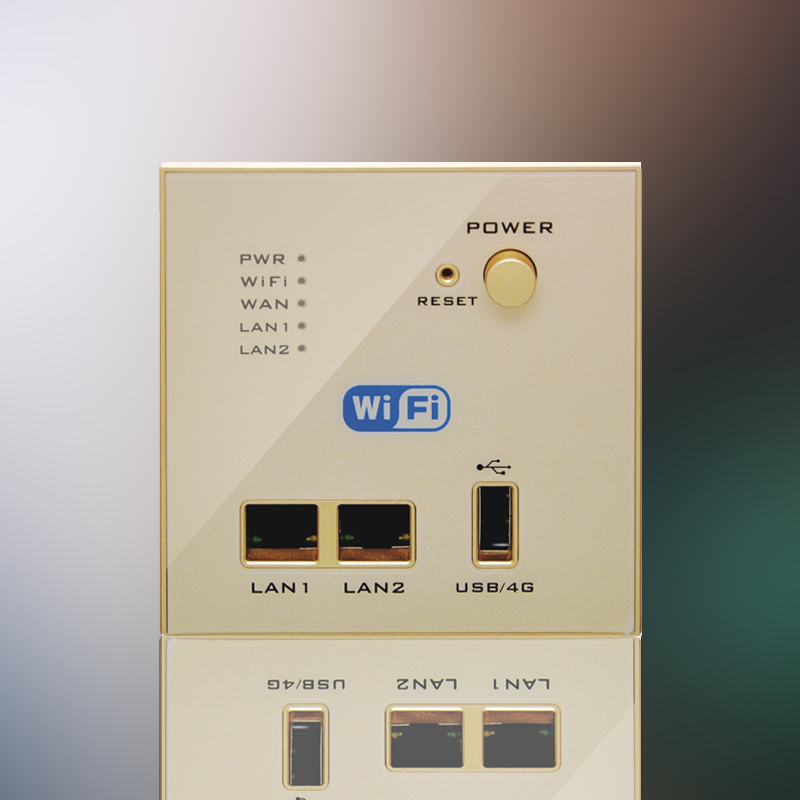 Free Shipping Gold WIFI USB Charging 4G 3G WiFi Socket, USB Socket Wall Embedded Wireless AP Router Repeater Phone Wall Charge <br>