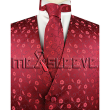New arrival free shipping Mens Suit Vest (vest+ascot tie+handkerchief+cufflinks)(China)