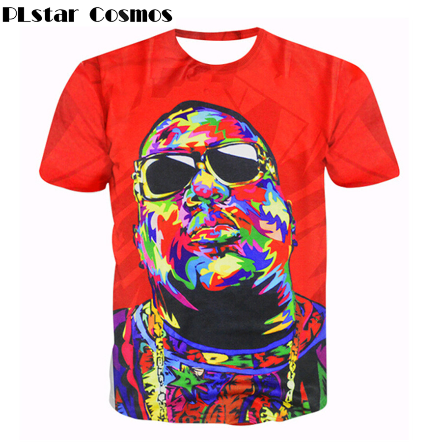 PLstar Cosmos Women/Men 3d T-shirts Christopher G. L. Wallace T-Shirt Biggie Smalls tees Summer Frank White Notorious t shirts(China (Mainland))