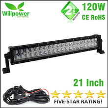 double rows  Combo beam offroad straight 21 inch 120W 4x4 car work led light bar 12v for JEEP 4WD Truck Boat