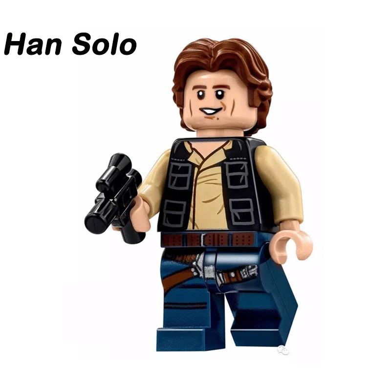 Single Sale Star Wars Han Solo Minifigures Palpatine Chirrut Obi-wan Leia Models &amp; Building Blocks Christmas Gift For Kids PG662<br><br>Aliexpress
