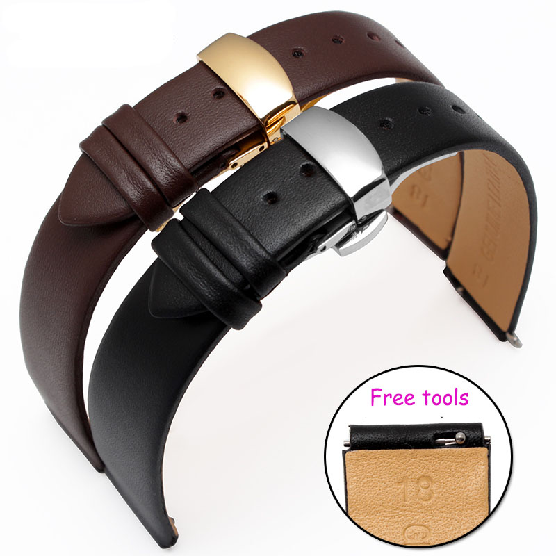 Hight Quality 18*15mm 18*16mm Genuine Leather Watch band Black Leather Smart Watch accessories For Huawei B2 B3<br><br>Aliexpress