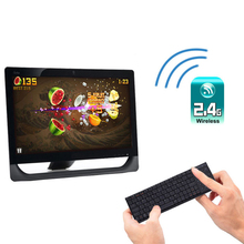 Ultra slim Wireless Keyboards 2.4Ghz USB Bluetooth Mini Built-in Touchpad For Windows/ iOS/ Android / Linux(China)