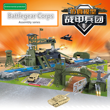 Battlegear Corps Assembly Series Building Cars Miniature Miniature Military Bases 3D Parking Toy Educational Toys For Children