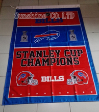 Buffalo Bills Stanley Cup Champions Flag hot sell goods 3X5 FT 150X90CM Banner brass metal holes BB09