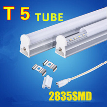 Free shipping 5pcs T5 led tube 600mm/60cm 8w 9w 12v led tube light 12v led solar tube 800lm smd2835 led fluorescent tube lamp(China)