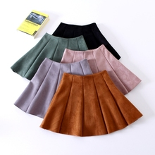 Buy New Fashion Suede Short Skirts Women 2017 Summer Saias High Waist Skirt Tutu Mini Skirt Elegant Jupe Female Faldas for $12.22 in AliExpress store