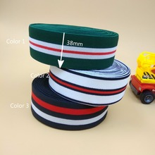 "Free Shipping 1.5"" Colorful Soft Elastic Band 38MM Width 5 Meters For DIY Craft Sewing Clothes Bags Webbing Garment Accessories(China)"