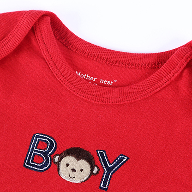 2016 Newly 25 Styles Baby Clothing 0-12 M Romper Mother Nest Red Color Monkey Embroidered Next Boy&Girl Bebes Newborn Clothes (4)