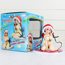 17CM Super Sonico Swim Wear Bikini Christmas Lingerie Version Boxed PVC Action Figure Collection Model Toy