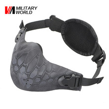 Camouflage Tactical Mask Dustproof Balaclava Airsoft Military Outdoor Hunting Cover Cycling Paintball Scarf Half Face Mask