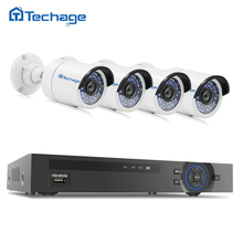 Techage 4CH 1080P NVR Record POE CCTV System P2P IR Night Vision 4PCS 2MP Outdoor HD IP Camera Security Surveillance Kit 1TB HDD