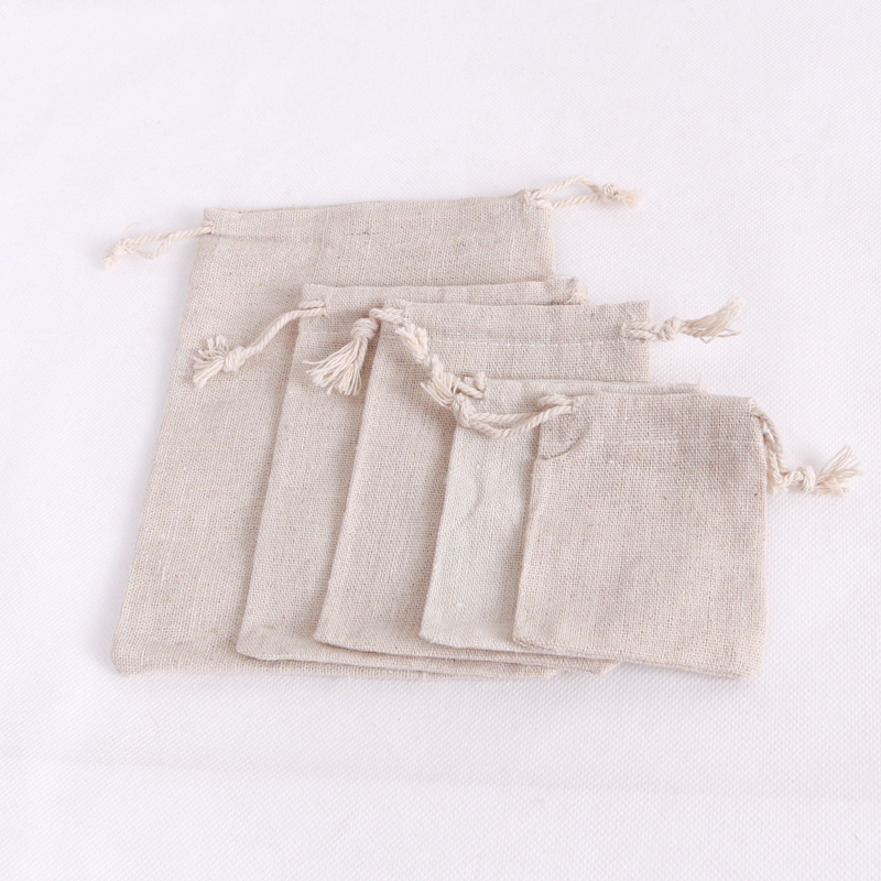 LOT OF 20 NATURAL COTTON Style Drawstring Pouch Wedding Party Favor Bags 3X4