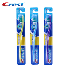 Crest 3 pc /Set Medium Soft Nano Toothbrush Teeth Brush Tongue Cleaner Toothbrushes Personal Care Tooth Brush Tandenborstel(China)