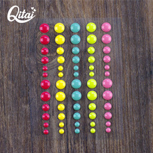 QITAI 6pcs/lot Resin Sticker Dot Scrapbooking/ DIY Crafts Making Decoration Scrapbooking stickers Sugar Sprinklers Enamel ES002(China)